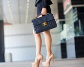 bag,heels,gucci,nude,black,beautiful