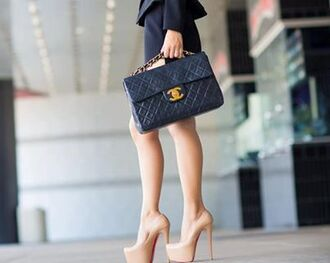 bag heels gucci nude black beautiful