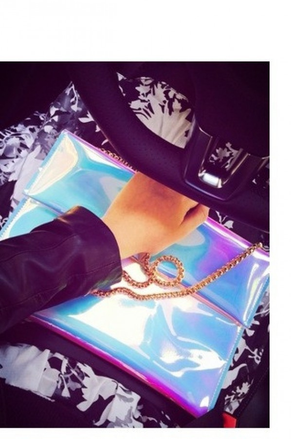 bag kcloth holographic bag hologram clutch envelope clutch
