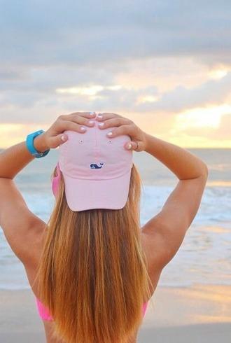 hat pink hat pink cap cap pink baseball hat