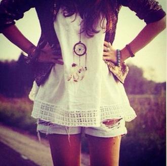 jewels tumblr dreamcatcher amazing beauiful hip no shirt top