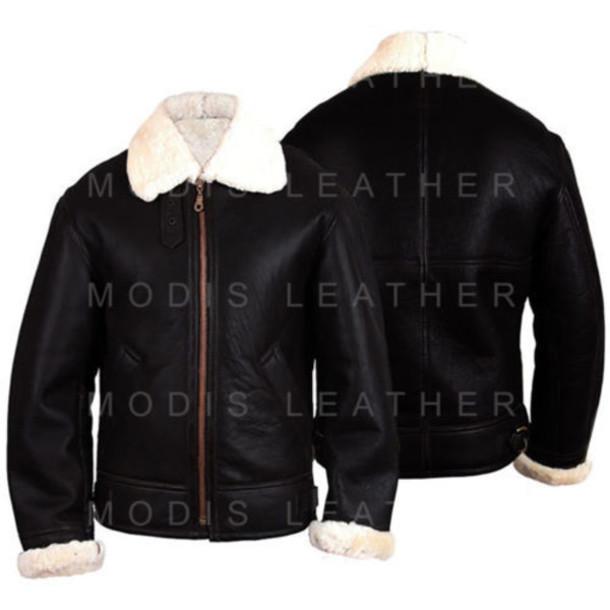 Jacket B3 Bomber Jacket Ww2 Leather Jacket Ginger Aviator Jacket
