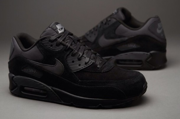 best quality d67b3 3af7e shoes air max nike air max 90 nike all black everything