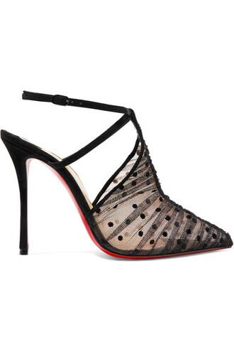 100 pumps lace black shoes