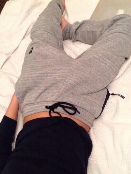 grey grey sweatpants nike