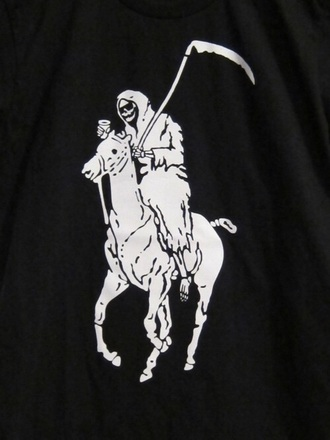 shirt black grim reaper party