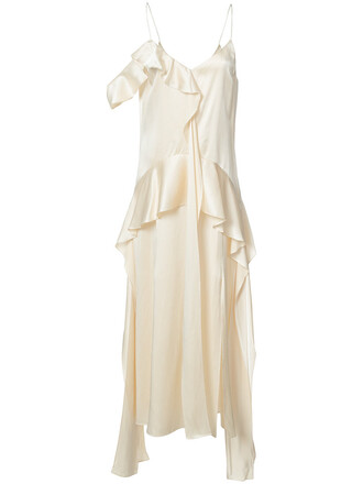dress slip dress women nude silk