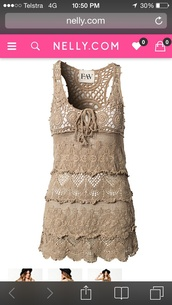 dress,crochet dress,hippy dress