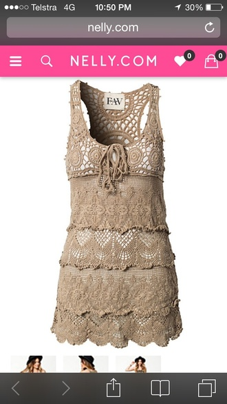 dress crochet dress mesh dress hippy dress