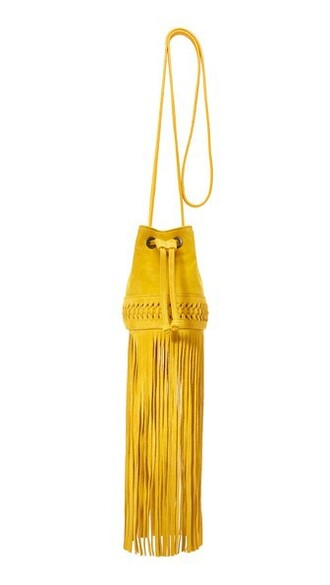 long baby bag bucket bag yellow