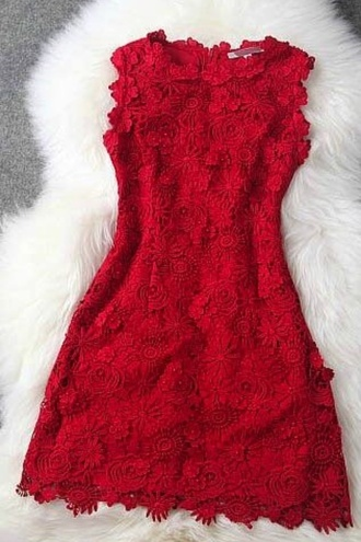 dress dresslove2015 red dress classy dress short dress sleeveless dress