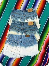 Diy bleached jean shorts