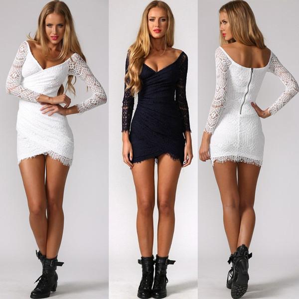 Irregular lace dress aa1119ce