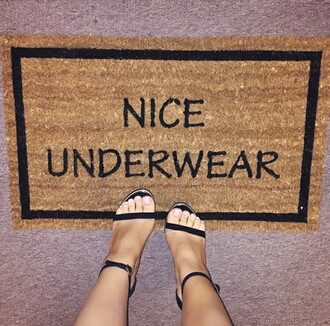 home accessory door mat funny