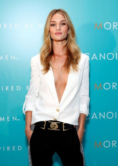 jewels necklace jacket rosie huntington-whiteley blouse Belt