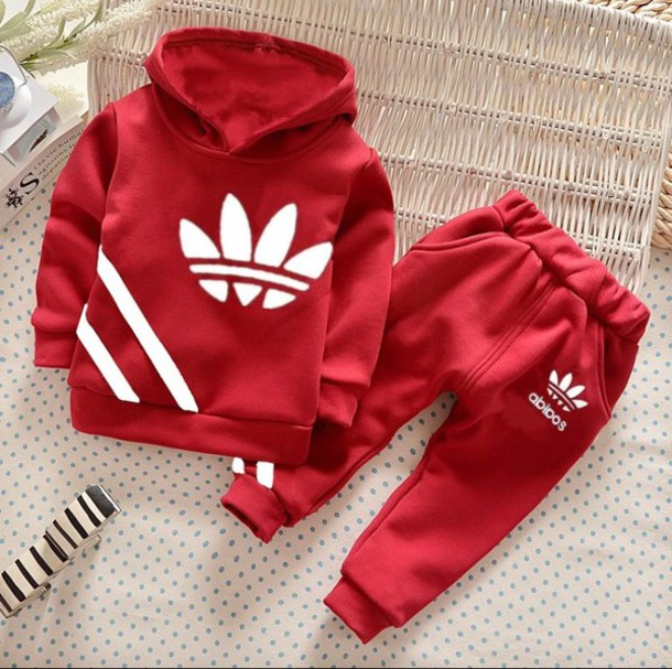 Sweater adidas kids kids sweater kids fashion red adidas tracksuit hoodie - Wheretoget