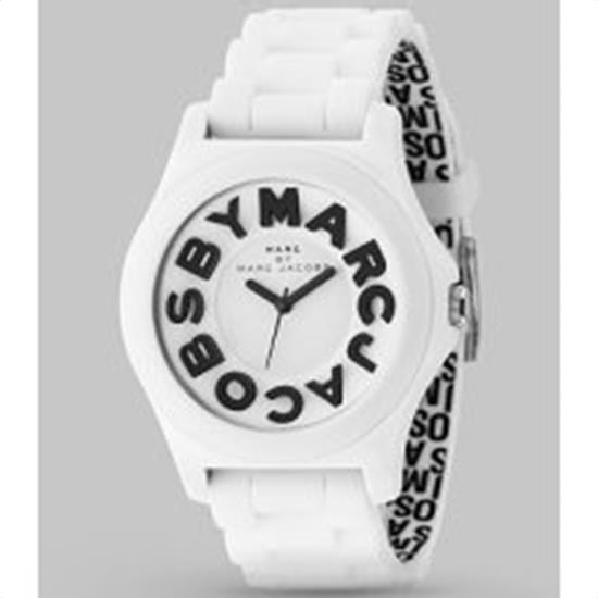 Marc by Marc Jacobs MBM4005 Sloane Logo Strap Watch White Black