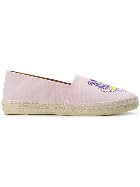 Kenzo women tiger espadrilles leather purple pink shoes
