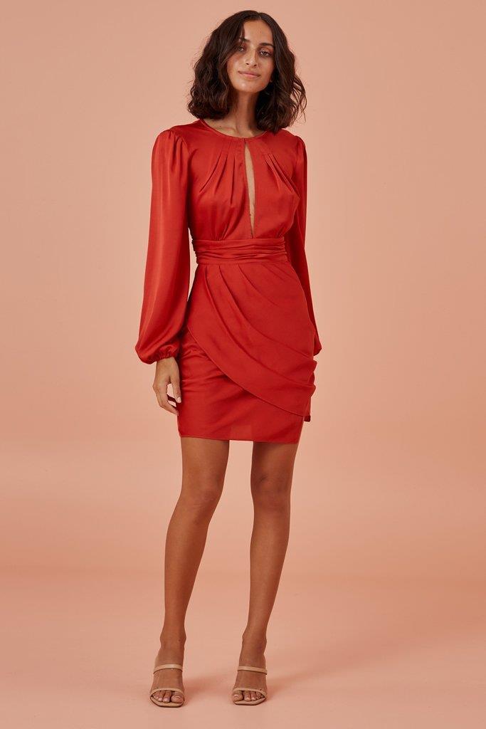 GABRIELLA MINI DRESS red