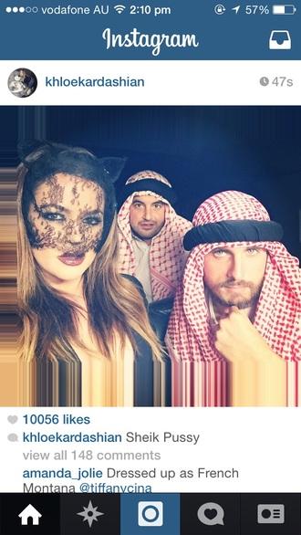 hair accessories khloe kardashian halloween mask face cats