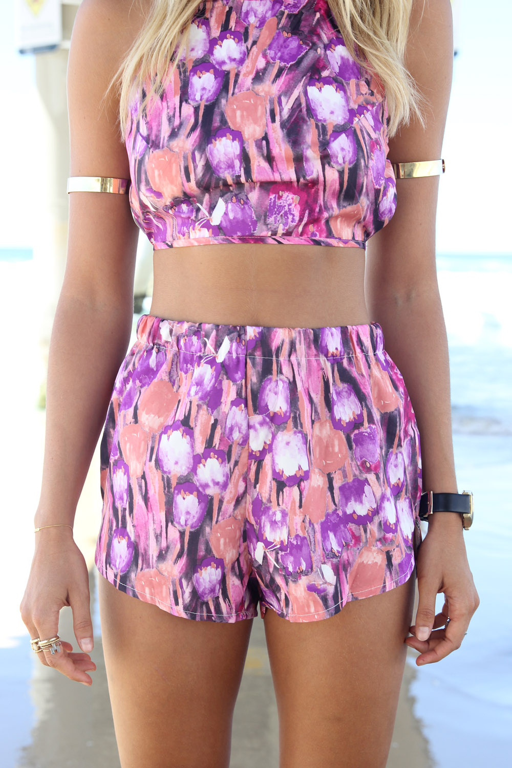 Multi Shorts - Multi-Colored Printed Shorts | UsTrendy
