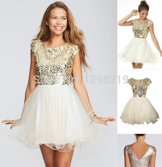 dress sequined short style sparkely glitter
