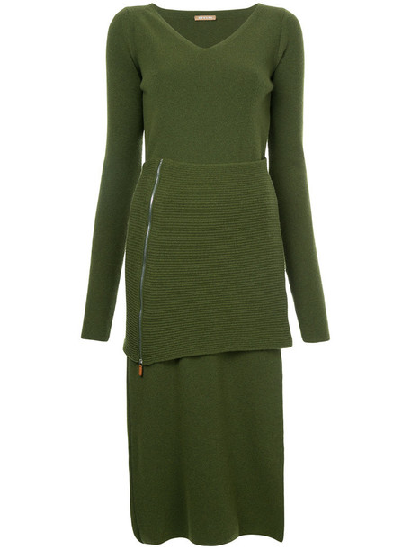 Nehera dress knitted dress women wool green