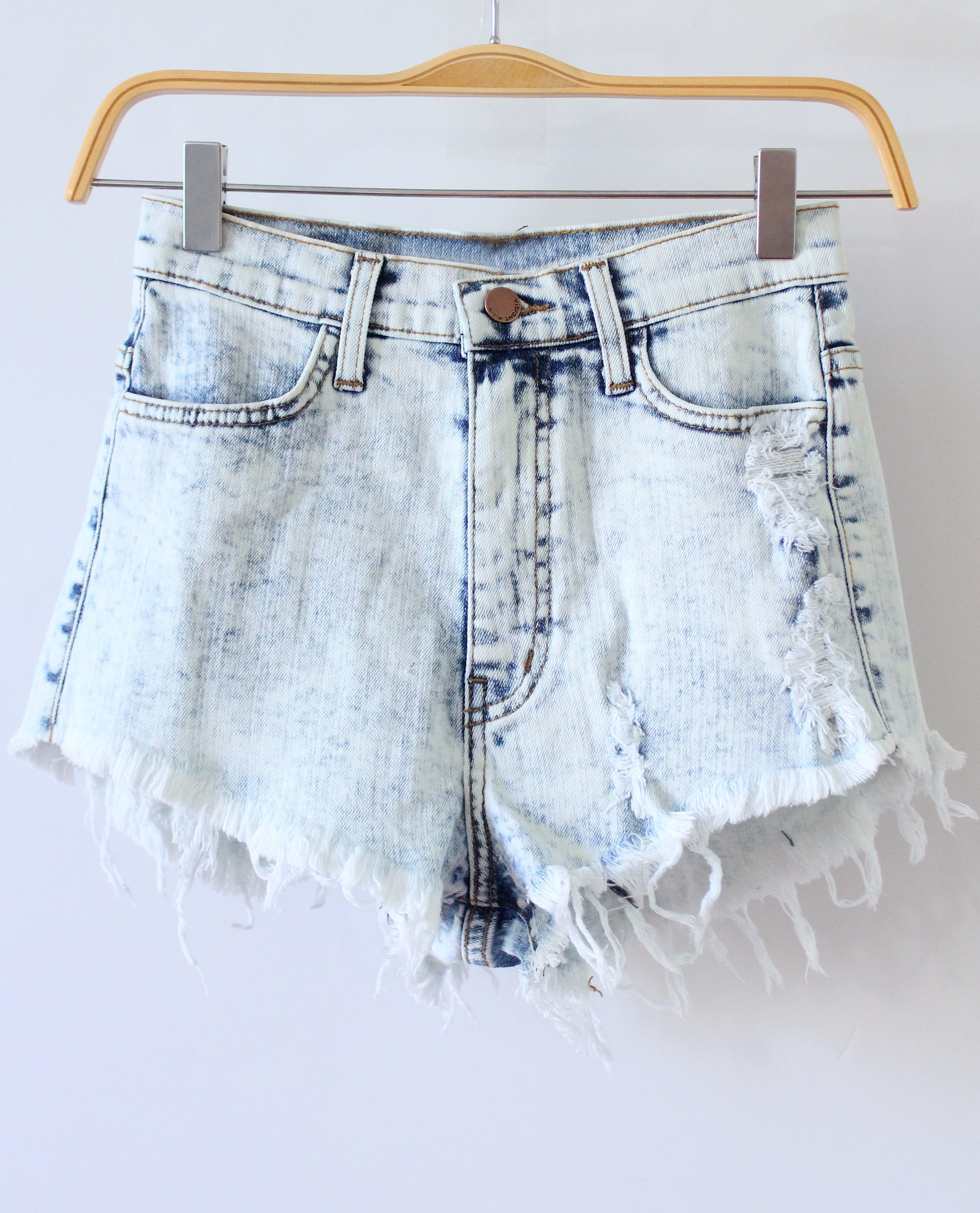Light Wash High Waisted Shorts from Love Junkee on Storenvy
