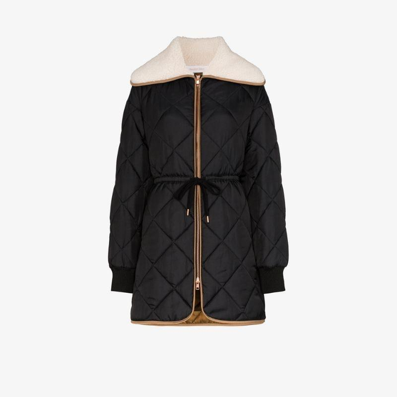 See By Chloé faux shearling quilted puffer jacket