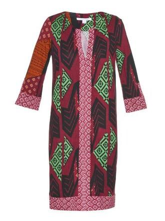 dress long dress long rose print pink