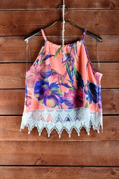 Peach Floral Summer Top