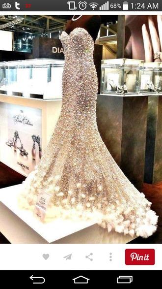 dress crystal quartz mermaid dress flowy dress flare dress wedding dress prom dress prom gown sparkly dress sparkles silver dress diamond dress lights feather dress
