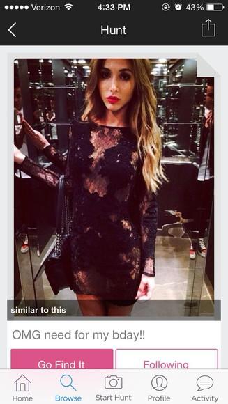 dress lace dress birthday dress lace black