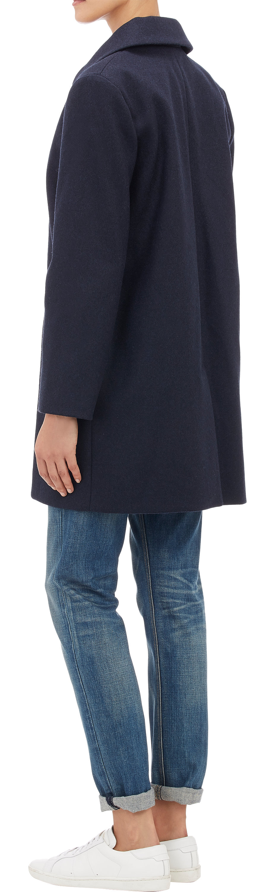 A.p.c. melton topcoat at barneys.com