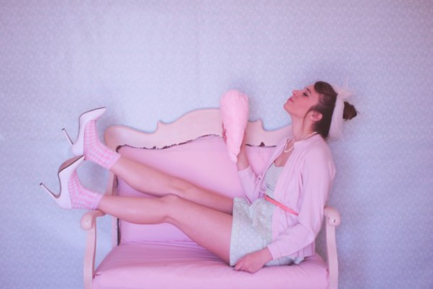 tennessee rose blogger dress pastel pink pastel girly sweater socks shoes scarf