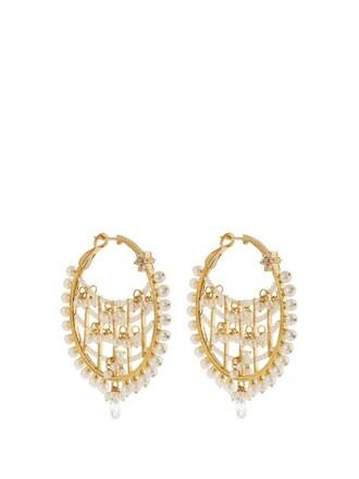 pearl earrings gold earrings gold yellow jewels