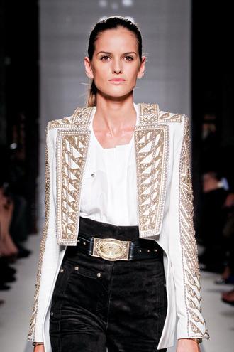 jacket embellished balmain