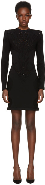 Balmain dress lace dress black lace dress lace black black lace