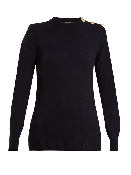 Balmain sweater wool navy