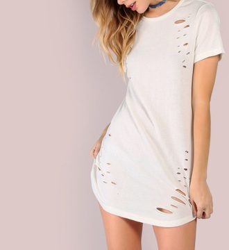 dress girly girl girly wishlist white white dress ripped t-shirt dress