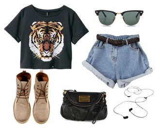 shirt t-shirt animal cute hipster jeans shorts
