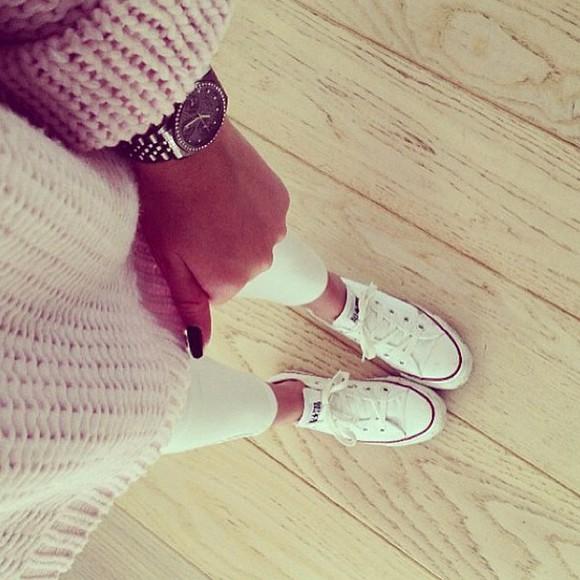 cream nitted sweater