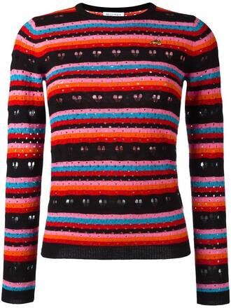 jumper heart metallic women love black wool sweater