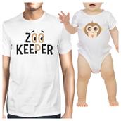t-shirt,white t-shirt,funny baby shirt with daddy,father and son t shirts,cute matching shirts,cute matching clothes,cute baby onesies,cute baby clothing,monkey emoji baby shirt