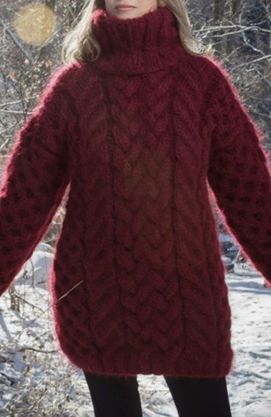 sweater fluffy mohair mohair sweater