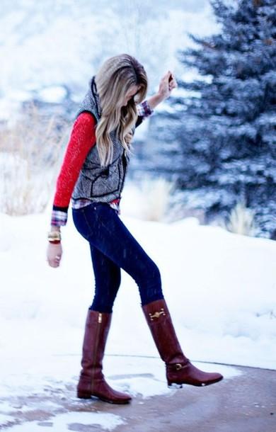 Jacket Vest Prep Preppy Classy Winter Outfits Warm