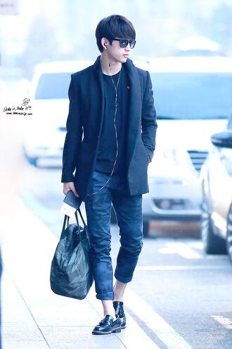 pants kpop jr k-pop casual camouflage camo pants