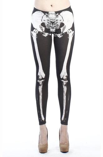 pants leggings skeleton pastel goth skeleton print