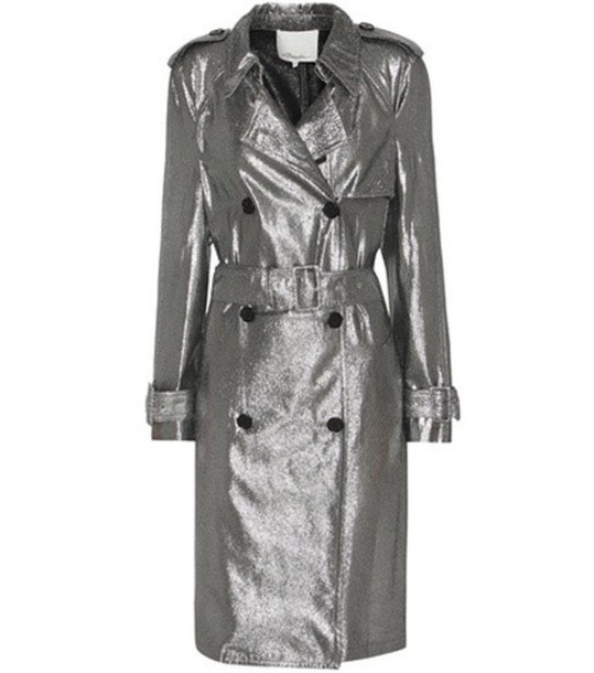 Trench Coat Wheretoget In Lim Phillip 1 Silver 3 Metallic WIbe29EDHY
