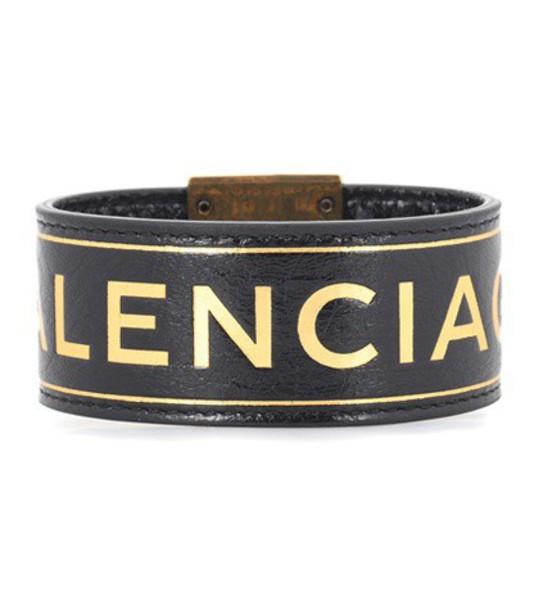 Balenciaga leather black jewels